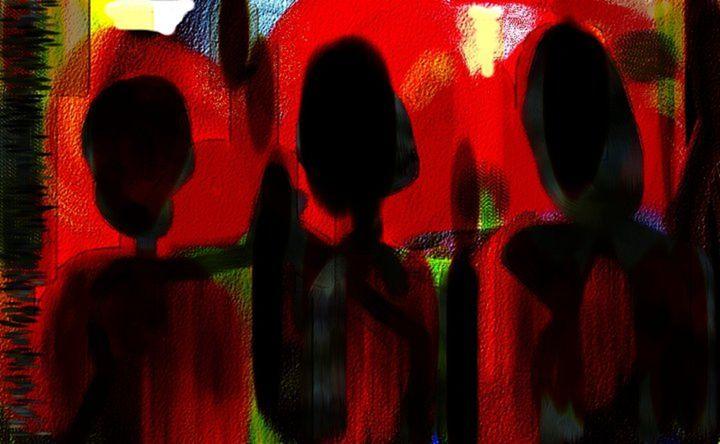 Gossiping - Semi Digital Artwork