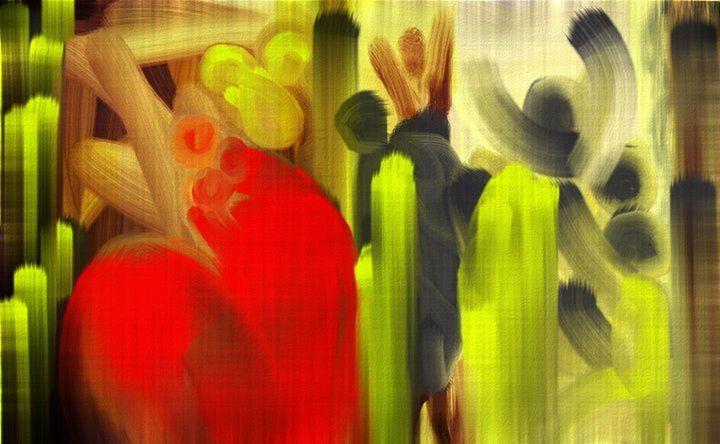 The Party - Semi Digital Artwork