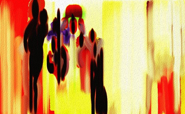 Migration - Semi Digital Artwork
