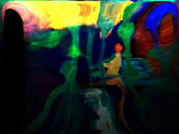Soul Travel - Semi Digital Artwork