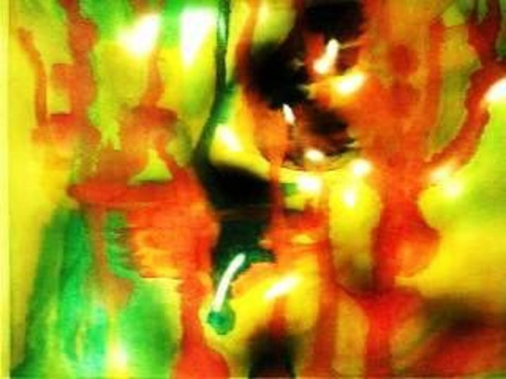 Embryonic Lights - Semi Digital Artwork