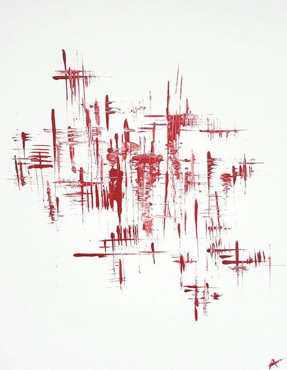 Abstraction rouge - Adam Brillaud