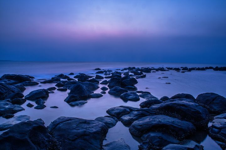 Sunset on the coastline - My Secret Art
