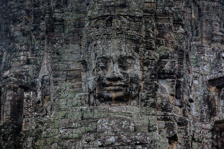 Cambodia Angkor Wat smile - My Secret Art