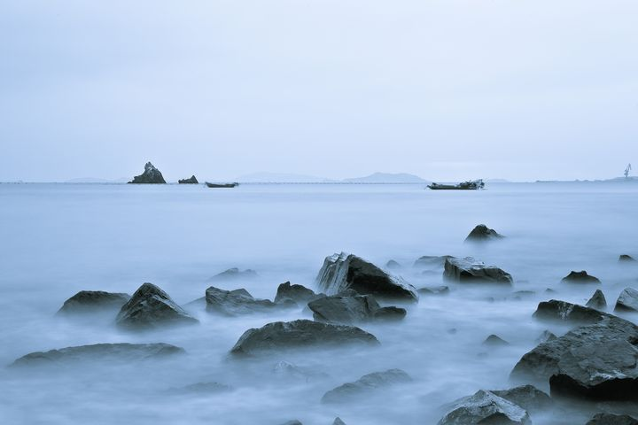 Early morning seaside stones - My Secret Art