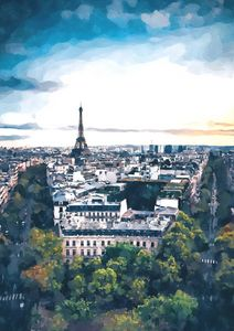 Paris Early Noon Cityscape