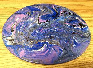 Acrylic Fluid Art on Canvas Panel