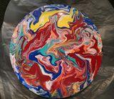 Heat Waves on Round Canvas