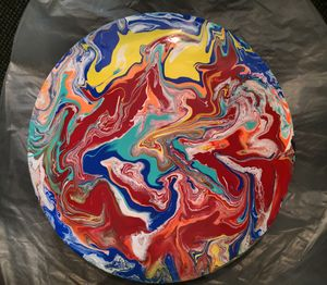 Heat Waves (Round Canvas Panel)