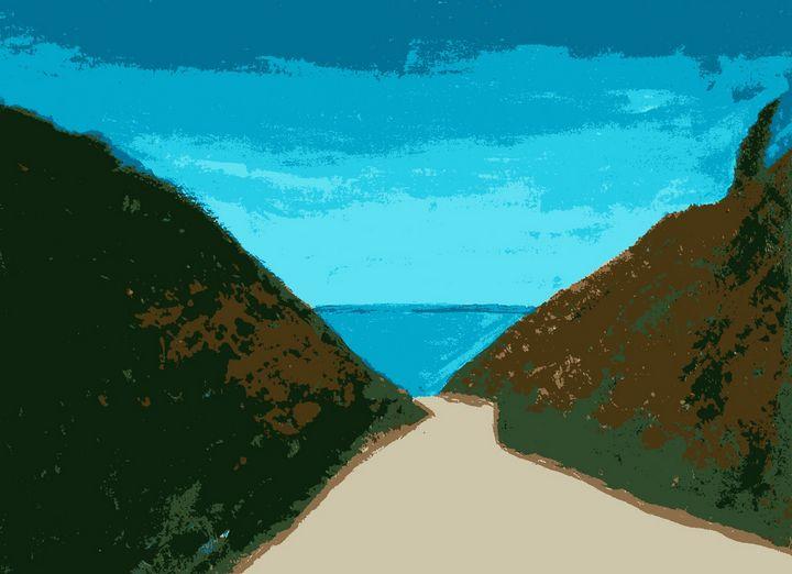 Accès à la plage - Cothy'Art