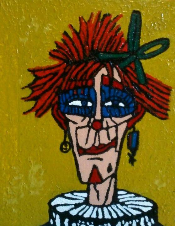 Clown au Flo. Version 1. - Cothy'Art