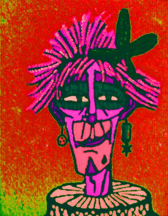 Clown au Flo. Version 2 - Cothy'Art