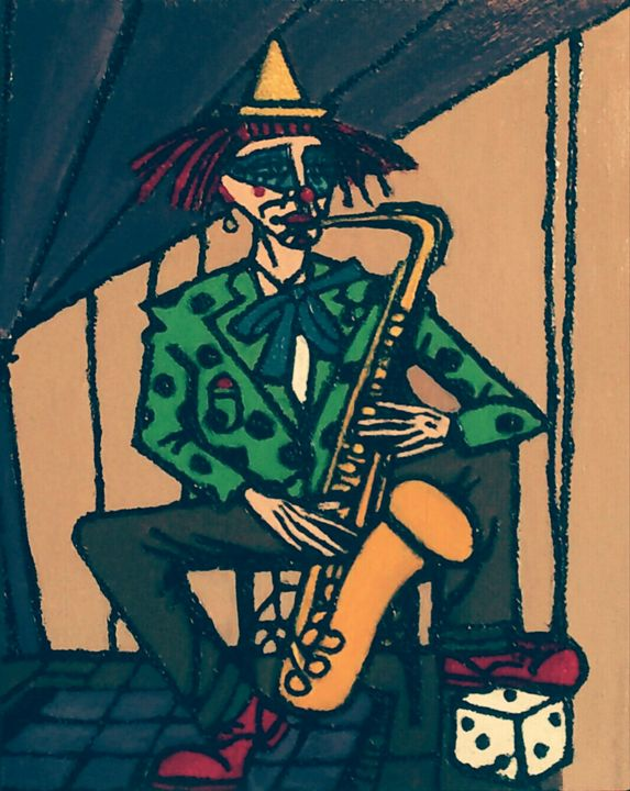 Clown Saxophoniste - Cothy'Art