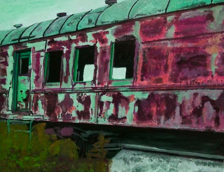 Voiture voyageurs - Cothy'Art