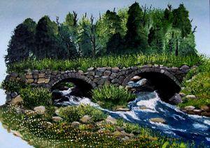 Stone-arched bridge, Stoddard, NH