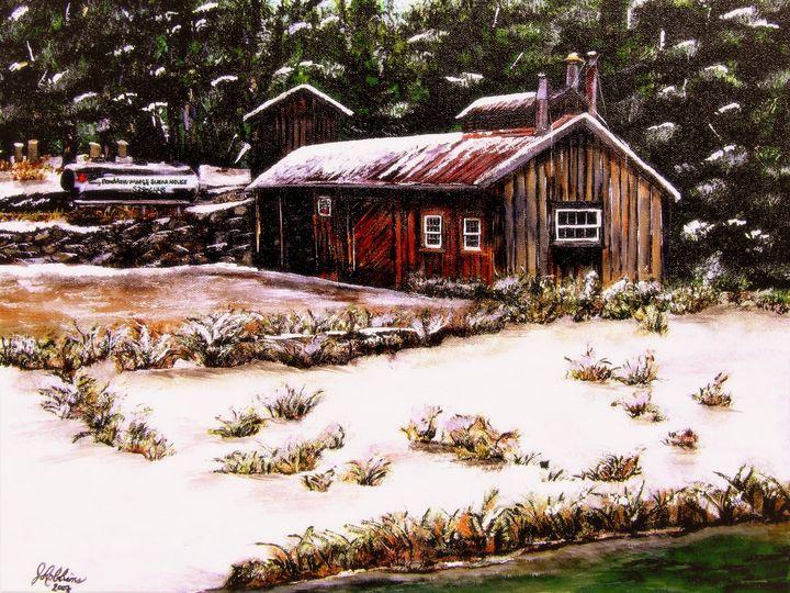 Grant Farmily Maple Syrup Barn - Under the Canopy Art by Jo Robbins