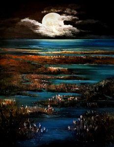 Moon over Marsh