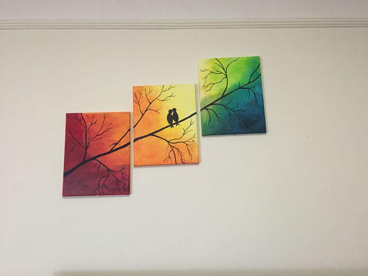 Romantic love birds - Mits Art work