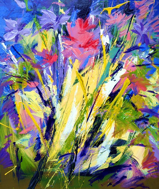 Abstract flowers - Mario Zampedroni