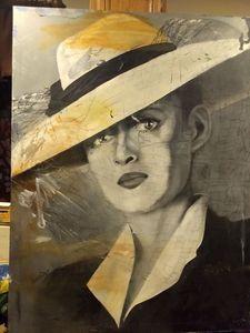 Bette Davis Oil Portrait on Canvas