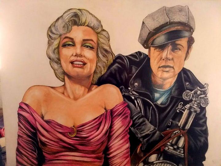 Marilyn Monroe and Marlon Brando - Art Paintings