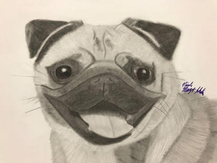 Cute Pug - NicolesDesignsNMore