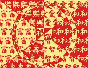 Lucky Chinese Symbols Pattern