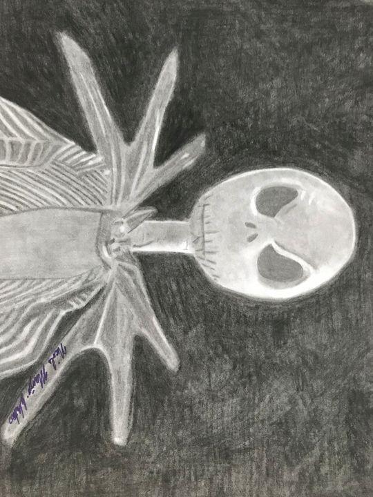 Jack Skellington Pencil Drawing - NicolesDesignsNMore