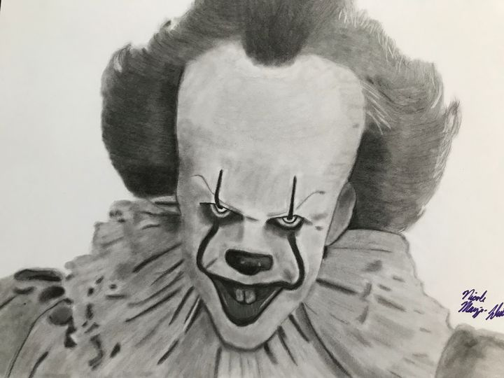 Pennywise Pencil Drawing - NicolesDesignsNMore