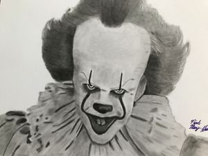 Pennywise Pencil Drawing