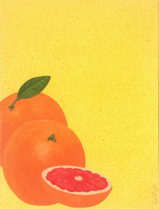 Summer Fruits Series: Grapefruit - Llewellyn Design Studio: Tracy Llewellyn