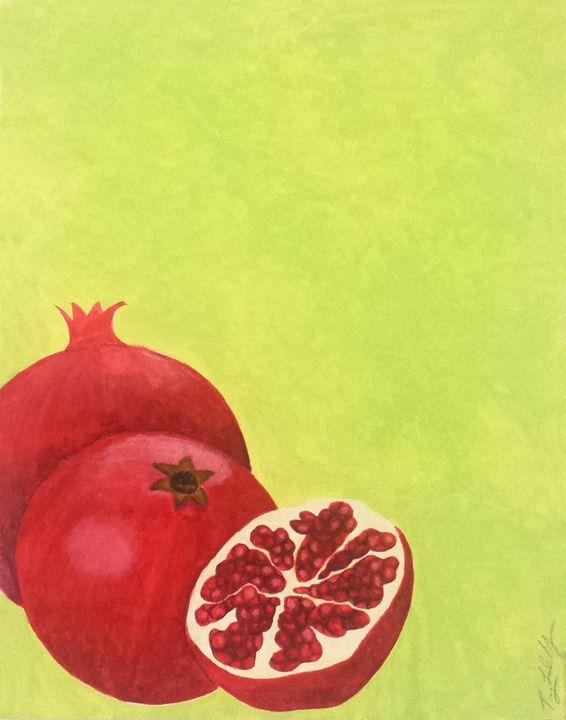 Summer Fruits Prints: Pomegranate - Llewellyn Design Studio: Tracy Llewellyn