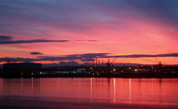Red Sky River Mersey - Sandra Buchanan