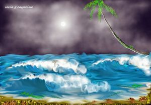 See the sea, so simple seascape and