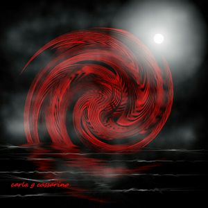 Red swirls meet the tide