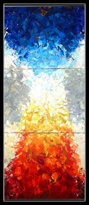 Fire and Ice Abstract - Pam's Art House