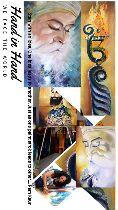 Collage of Artist work - Pam's Art House