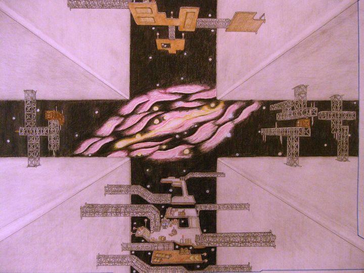 Hangar and Cubic SpaceStation - Christian Frömsdorf
