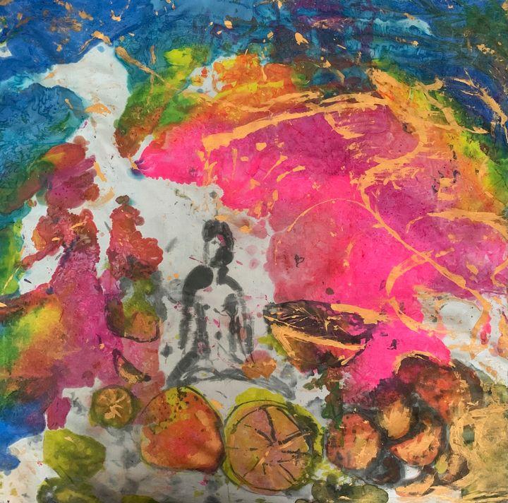 Metallic fruits of yoga silk 2of3 - Richelle Curran