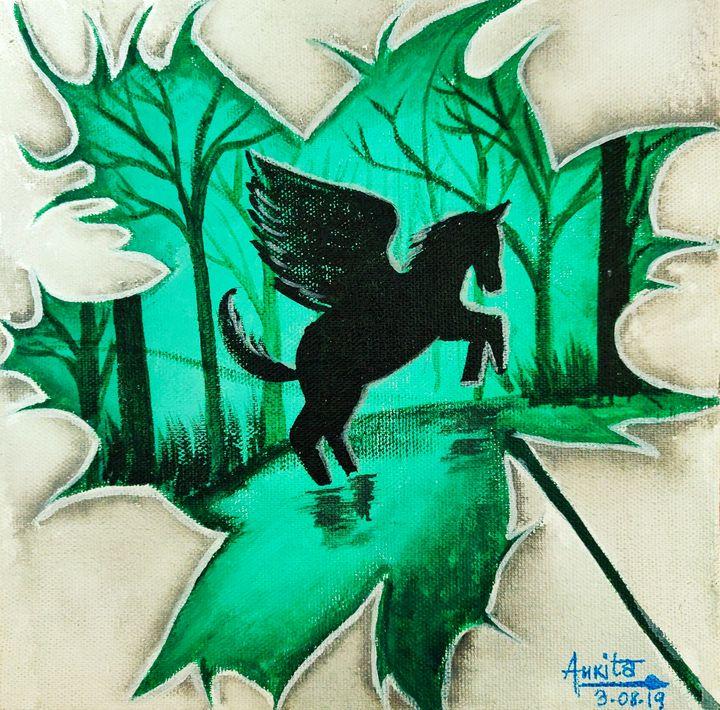 The flying Pegasus - Ankita's Artworks