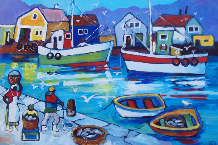 boats in the harbour - galleroa