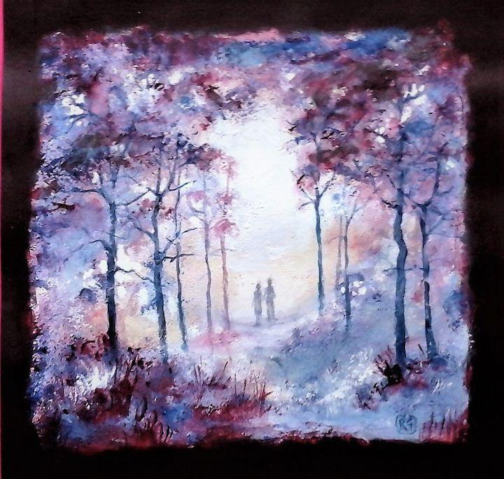 a walk in a misty forest - galleroa