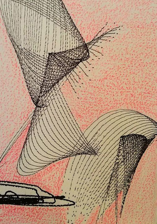 pink curve - Annette Manning
