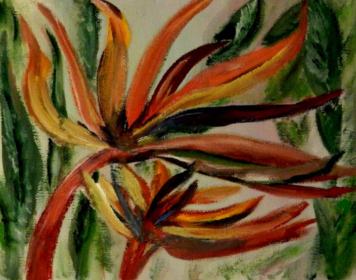 Bird of Paradise flower 2 - CS art