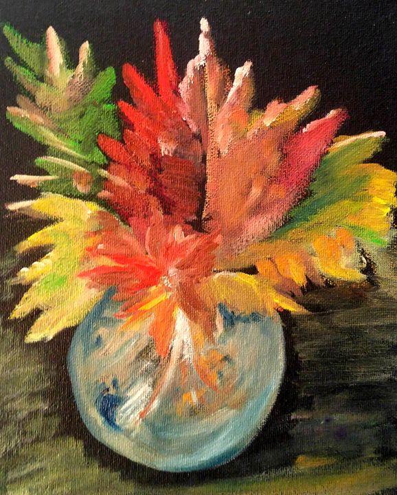 Few Leaves In The Vase - CS art