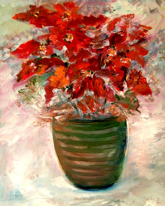 Vase avec Poinsettia - CS art