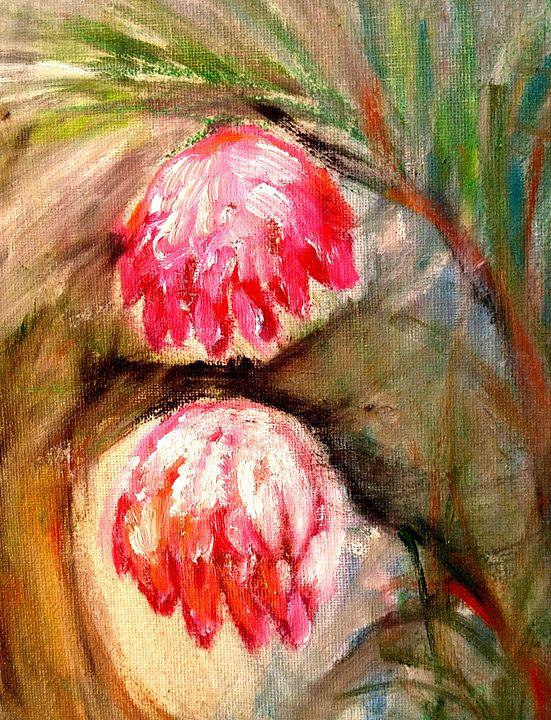 2 Red Flowers - CS art