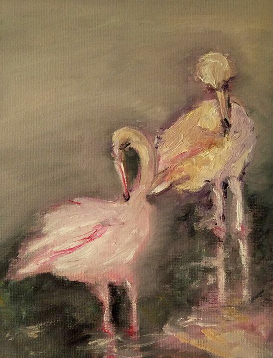 Flamingos - CS art