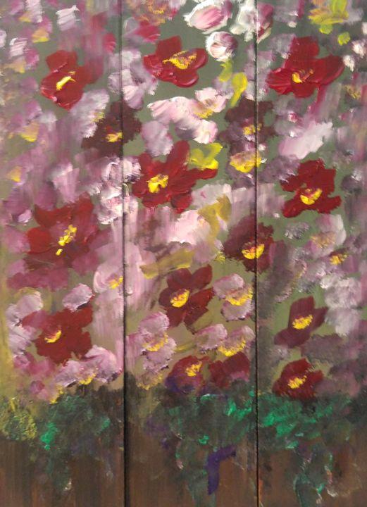 3 pieces Flowers - CS art