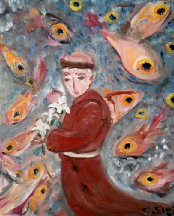St Anthony (preaching to the fishes) - CS art